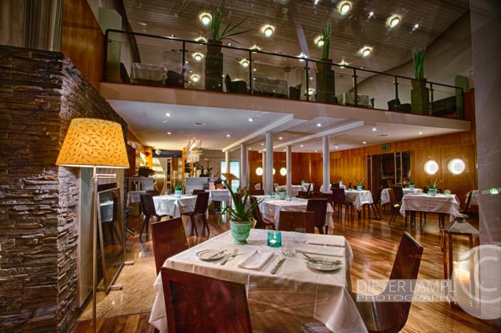 Architekturfotografie für Restaurants: Blick ins Marina Restaurant in Wien